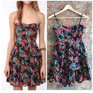 UO Kimchi Blue Floral Fit and Flare Dress